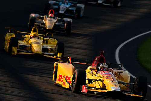 16-20 May, 2016, Indianapolis, Indiana, USA<br /> Ryan Hunter-Reay, Helio Castroneves<br /> ©2016, Scott R LePage <br /> LAT Photo USA