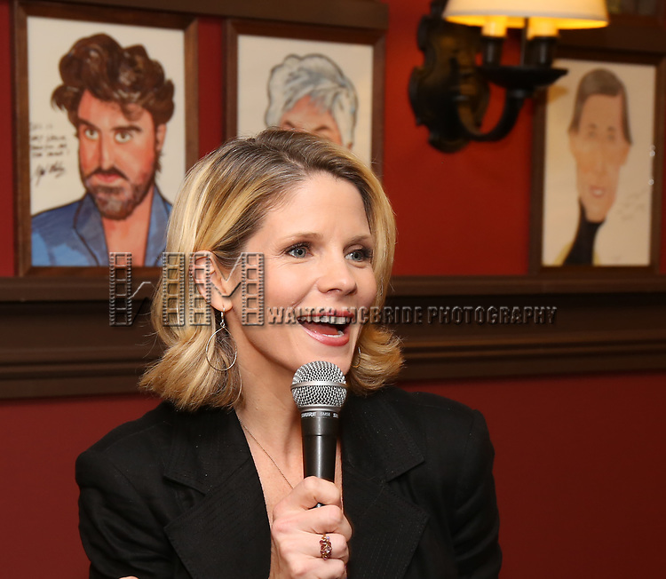 Kelli O'Hara attends the Ben Platt Sardi's Portrait unveiling at Sardi's on May 30, 2017 in New York City.
