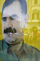 Roma, 28 Luglio 2012.Piazza Santi Apostoli.La comunità kurda in Italia protesta per la fine dell'isolamento di Abdullah Ocalan e per una soluzione politica del conflitto