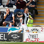 04.08.18 St Mirren v Dundee: Danny Mullen takes the acclaim after scoring