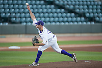Winston-Salem Dash starting pitcher Matt Cooper (19) delivers a pitch to the plate against the mb\ at BB&T Ballpark on April 18, 2016 in Winston-Salem, North Carolina.  The Pelicans defeated the Dash 6-4.  (Brian Westerholt/Four Seam Images)