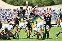 Jack Hart of South Africa kicks during the World Championship U20 3rd place match between South Africa and New Zealand on June 17, 2018 in Beziers, France. (Photo by Alexandre Dimou/Icon Sport)