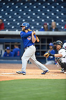 ***Temporary Unedited Reference File***Iowa Cubs catcher Taylor Davis (13) during a game against the Nashville Sounds on May 3, 2016 at First Tennessee Park in Nashville, Tennessee.  Iowa defeated Nashville 2-1.  (Mike Janes/Four Seam Images)