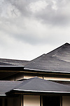 Tokyo, June 28 2013 - The roof of National Noh theater.