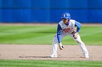 14 September 2009: Left fielder Hun-Gon Kim of South Korea takes a lead during the 2009 Baseball World Cup Group F second round match game won 15-5 by South Korea over Great Britain, in the Dutch city of Amsterdan, Netherlands.