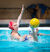 STANFORD, CA - April 20, 2019: Madison Berggren at Avery Aquatic Center. The #1 Stanford Cardinal took down the #20 San Jose State Spartans 22-4.