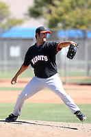 Bryan Salsbury, San Francisco Giants 2010 minor league spring training..Photo by:  Bill Mitchell/Four Seam Images.