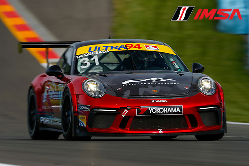 Porsche GT3 Cup Challenge USA / CAN<br /> Sahlen's Six Hours of the Glen<br /> Watkins Glen International, Watkins Glen, NY USA<br /> Thursday 29 June 2017<br /> 31, Michael de Quesada, GT3CP, CAN, 2017 Porsche 991<br /> World Copyright: Jake Galstad/LAT Images