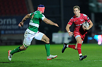 Scarlets' Liam Williams in action during todays match<br /> <br /> Photographer Ashley Crowden/CameraSport<br /> <br /> Guinness PRO12 Round 19 - Scarlets v Benetton Treviso - Saturday 8th April 2017 - Parc y Scarlets - Llanelli, Wales<br /> <br /> World Copyright &copy; 2017 CameraSport. All rights reserved. 43 Linden Ave. Countesthorpe. Leicester. England. LE8 5PG - Tel: +44 (0) 116 277 4147 - admin@camerasport.com - www.camerasport.com