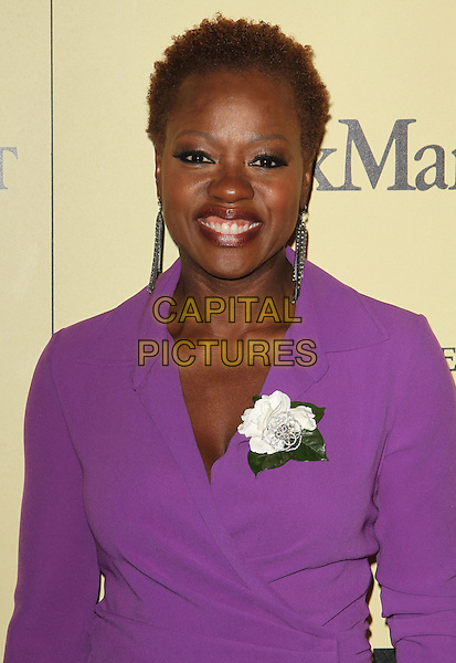 Viola Davis.5th Annual Women In Film Pre-Oscar Cocktail Party held at Cecconi's Restaurant, Los Angeles, California, USA..February 24th, 2012.half length purple dress white corsage .CAP/ADM/FS.©Faye Sadou/AdMedia/Capital Pictures.