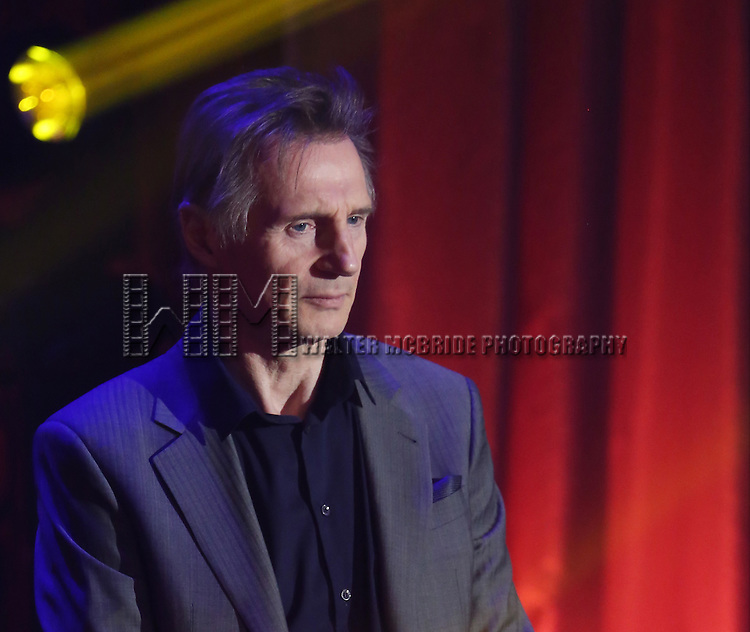 Liam Neeson onstage during the Roundabout Theatre Company's  50th Anniversary Gala at The Waldorf-Astoria on February 29, 2016 in New York City.