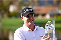 2010 Bob Hope Classic Champion Bill Haas poses with the winners' trophy