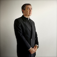 52 year old Father Alvaro Corcuera poses for a portrait in Rome. Father Alvaro is the Director General of the Legionaries of Christ. He became the leader after the controversial resignation of the founder Marcial Maciel. The Legion of Christ is a conservative Roman Catholic congregation whose members take vows of chastity, obedience and poverty.