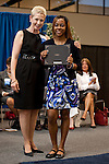 Brenda Horton with Jasmine Magee at the 2011 Aldine Scholarship Foundation Scholarship Ceremony at Lone Star College - North Harris.