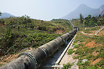 Pipeline part of hydroelectric power station, Northern Vietnam