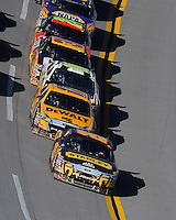 Nov. 1, 2009; Talladega, AL, USA; NASCAR Sprint Cup Series driver Elliott Sadler (19) leads Matt Kenseth (17) during the Amp Energy 500 at the Talladega Superspeedway. Mandatory Credit: Mark J. Rebilas-