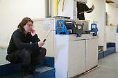 Plumbing student taking a break, Able Skills, Dartford, Kent.