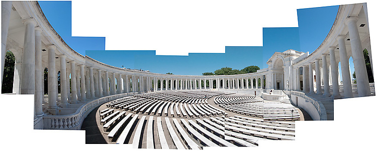 The amphitheater at Arlington National Cemetery, located behind the Tomb of the Unknowns.