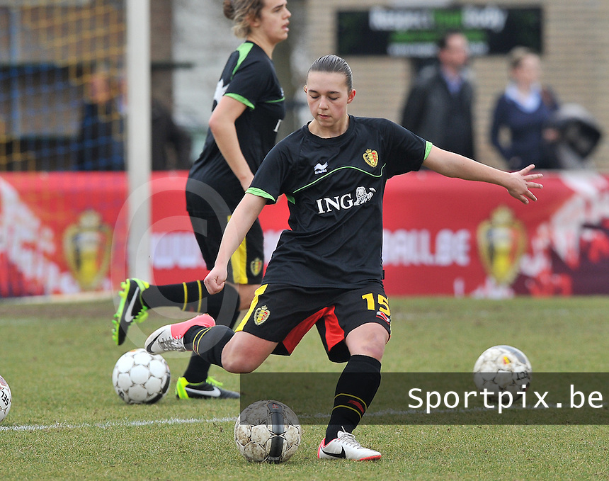 Denmark U17 - Belgium U17 : Jody Vangheluwe.foto DAVID CATRY / Vrouwenteam.be