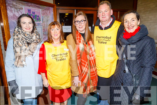 Attending the Carols for Chernobyl an evening of seasonal Music and Song in St Brendans Church on Sunday night. <br /> L to r: Aoife Cahill, Mary Sugrue, Geraldine McCarthy, Ivan Blennerhasset and Sharon Cahill.