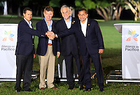 CALI -COLOMBIA-23-05-2013. Juan Manuel santo Presidente de Colombia, clausuró la VII Cumbre de la Alianza del Pacífico, en la ciudad de Cali, en el departamento del Valle del Cauca, Colombia, mayo 23 de 2013. La Alianza del Pacífico es un mecanismo de integración creado formalmente en 2012 para propiciar el libre flujo de bienes, inversiones y personas entre sus socios, Colombia, México, Chile y Perú para la búsqueda conjunta de mercados, especialmente en la zona Asia-Pacífico. (Foto: VizzorImage / Juan C Quintero / Str). Juan Manuel Santos, President of Colombia, closed the VII Summit of the Pacific Alliance, in Cali, department of Valle del Cauca, Colombia, May 23, 2013. Pacific Alliance is an integration mechanism formally established in 2012 to promote the free flow of goods, investments and people between its partners, Colombia, Mexico, Chile and Peru to the joint search for markets, especially in Asia-Pacific..  Photo: VizzorImage/Juan C. Quintero/STR