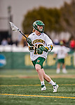 6 April 2019:  University of Vermont Catamount Attacker David Closterman, a Freshman from Doylestown, PA, in action against the University at Albany Great Danes on Virtue Field in Burlington, Vermont. The Cats rallied to defeat the Danes 10-9 in America East divisional play. Mandatory Credit: Ed Wolfstein Photo *** RAW (NEF) Image File Available ***