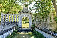 France, Indre-et-Loire (37), Montlouis-sur-Loire, jardins du château de la Bourdaisière, l'allée italienne