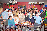 A surprise party was held in The Fertha Bar Cahersiveen for Linda O'Shea from Woodbrook, Cahersiveen who is departing for Sydney Australia on the 1st October.  Linda seated front centre was surprised by family and friends on Saturday night last.