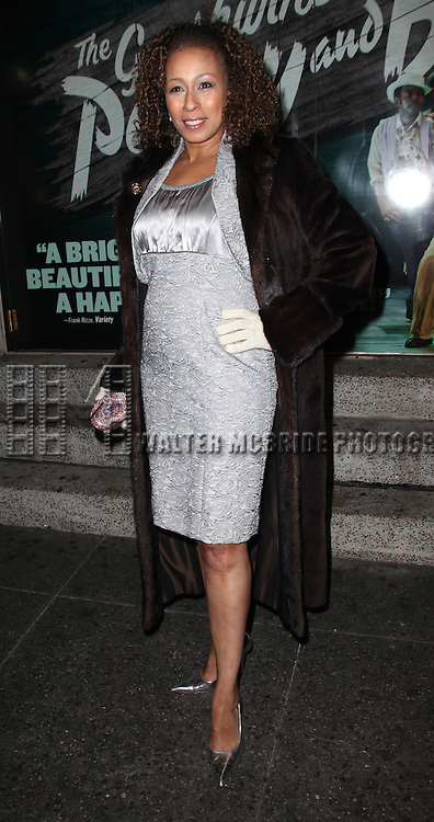 Tamara Tunie .attending the Opening Night Performance of 'The Gershwins' Porgy & Bess' at the Richard Rodgers Theatre in New York City. 1/12/2012