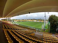 BOGOTA-COLOMBIA, 18-09-2020: Panoramica del estadio Metropolitano de Techo previo al partido entre La Equidad y Boyaca Chico F.C. por la fecha 9 de la Liga BetPlay DIMAYOR I 2020 jugado en el estadio Metropolitano de Techo de la ciudad de Bogota. / Panoramic view of the Metropolitano de Techoo stadium prior a match between La Equidad and Boyaca Chico F.C. for the 9th date as part of BetPlay DIMAYOR League I 2020 played at La Equidad stadium in Palmira city. Photo: VizzorImage / Santiago Cortes / Cont.