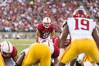 STANFORD, CA -- September 17, 2017<br /> Stanford Cardinal vs. the USC Trojans at Stanford Stadium in Stanford, CA. Final score Stanford 27, USC 10.