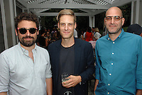 Isaac Resnikoff, John Houck, Antonio Puleo==<br /> LAXART 5th Annual Garden Party Presented by Tory Burch==<br /> Private Residence, Beverly Hills, CA==<br /> August 3, 2014==<br /> ©LAXART==<br /> Photo: DAVID CROTTY/Laxart.com==
