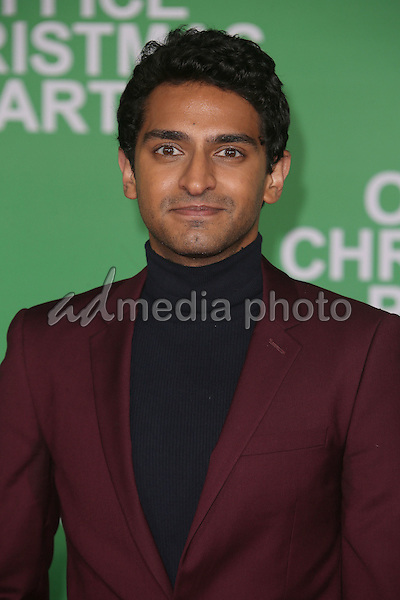 "07 December 2016 - Westwood, California - Karan Soni.  ""Office Christmas Party"" Paramount Pictures Los Angeles Premiere held at Regency Village Theatre. Photo Credit: F. Sadou/AdMedia"