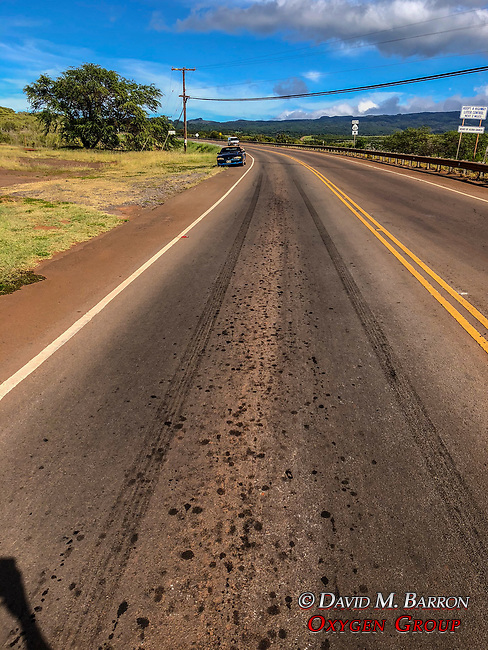 Tire Marks From Car Stopping