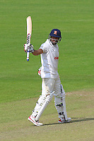 Ravi Bopara celebrates scoring a half-century, 50 runs during Glamorgan CCC vs Essex CCC, Specsavers County Championship Division 2 Cricket at the SSE SWALEC Stadium on 23rd May 2016