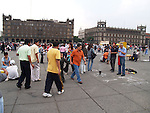 The modern Zócalo in Mexico City is 57,600 metres² (240 m × 240 m), making it one of the largest city squares in the world.[4]