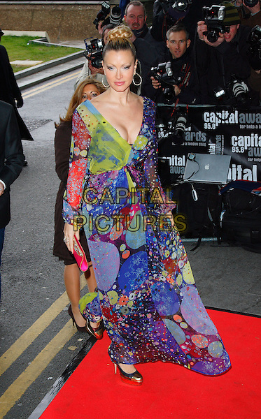 CAPRICE BOURETT .Capital Radio Awards at the Riverbank Park Plaza Hotel, London, England,  March 20th 2008.full length purple green print dress .CAP/ROS.©Steve Ross/Capital Pictures