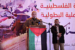 Palestinians take part in a rally to celebrate the West Bank shooting attack, in Gaza city on  March 17, 2019. One Israeli was killed and another two Israelis were critically injured after a Palestinian allegedly carried out a stabbing and shooting attack at the junction of the illegal Israeli settlement of Ariel. Photo by Mahmoud Ajjour