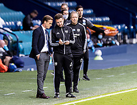 Fulham's manager Scott Parker (left) takes advice <br /> <br /> Photographer Andrew Kearns/CameraSport<br /> <br /> The EFL Sky Bet Championship - West Bromwich Albion v Fulham - Tuesday July 14th 2020 - The Hawthorns - West Bromwich <br /> <br /> World Copyright © 2020 CameraSport. All rights reserved. 43 Linden Ave. Countesthorpe. Leicester. England. LE8 5PG - Tel: +44 (0) 116 277 4147 - admin@camerasport.com - www.camerasport.com