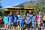 Sliabh Luachra team from Ireland enjoying the sights at sign on before the start of Stage 18 of the 104th edition of the Tour de France 2017, running 179.5km from Briancon to the summit of Col d'Izoard, France. 20th July 2017.<br /> Picture: Andy Brady | Cyclefile<br /> <br /> <br /> All photos usage must carry mandatory copyright credit (&copy; Cyclefile | Andy Brady)