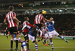 Jack O'Connell of Sheffield Utd gets the ball in the net but it was disallowed  during the English League One match at Bramall Lane Stadium, Sheffield. Picture date: November 29th, 2016. Pic Simon Bellis/Sportimage