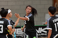 Thailand&rsquo;s Lalita Kuraphanew in action during the World Floorball Championships 2017 Qualification for Asia Oceania Region - Singapore v Thailand at ASB Sports Centre , Wellington, New Zealand on Sunday 5 February 2017.<br /> Photo by Masanori Udagawa<br /> www.photowellington.photoshelter.com.