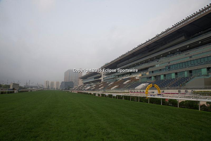SHA TIN,HONG KONG-APRIL 22: Sha Tin Racecourse before hard rain on April 22,2016 in Sha Tin,New Territories,Hong Kong (Photo by Kaz Ishida/Eclipse Sportswire/Getty Images)