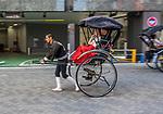 Rickshaw ride in Asakusa, Tokyo, Japan