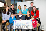 Michael Freemantle memorial tag rugby  event which raised €5438.79 for The Kerry Hospice  was presented to Ted Moynihan at the Palliative Care Unit on Tuesday. Pictured front l-r  Maeve Jern, Ethan Freemantle, Ted Moynihan, Elaine Freemantle, Alex Freemantle and Nora Laide. Back l-r Chrissy Laide, Aine Moriarty, Corina Kelleher and Jimmy Laide