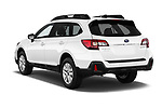 Car pictures of rear three quarter view of a 2018 Subaru Outback Premium 5 Door Wagon angular rear