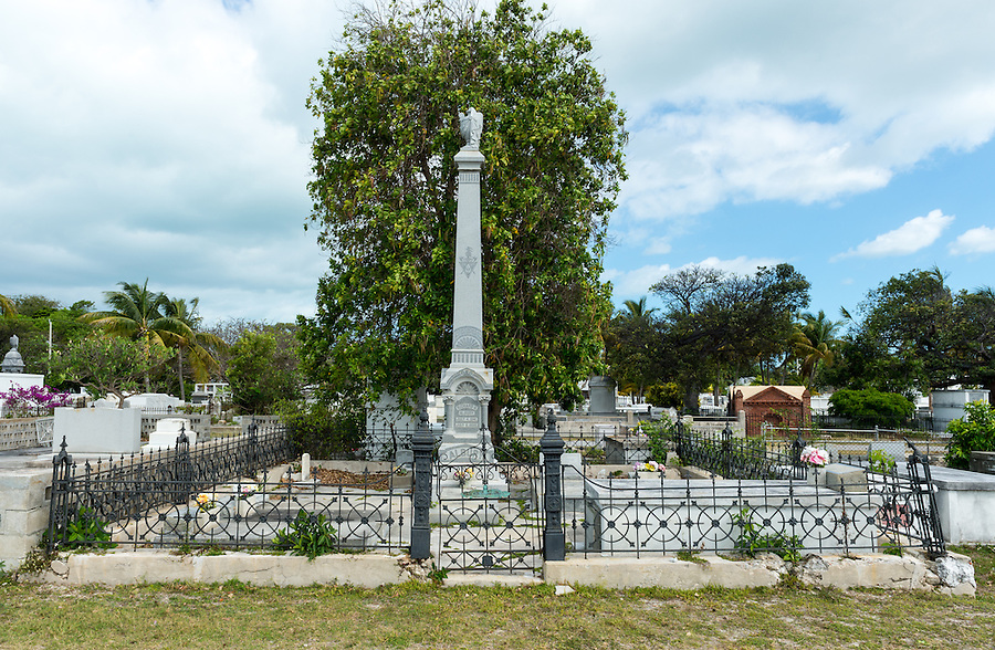 Tombs in the Famous Key West Cemetery