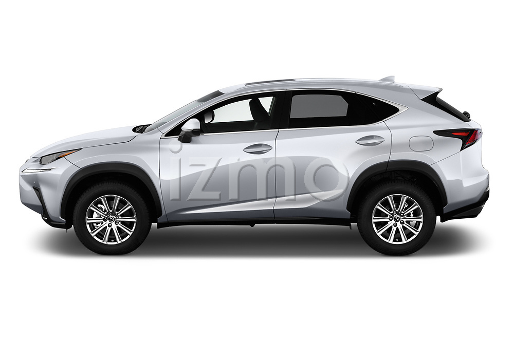 Car driver side profile view of a 2018 Lexus NX 300 FWD 5 Door SUV