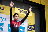 As the new GC leader (and yellow jersey) obviously Egan Bernal (COL/Ineos) is also leader in the youth classification. <br /> <br /> <br /> Stage 19: Saint-Jean-de-Maurienne to Tignes (126km)<br /> 106th Tour de France 2019 (2.UWT)<br /> <br /> ©kramon