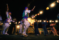 Japanese Obon festival with bon dancers honoring their ancestors